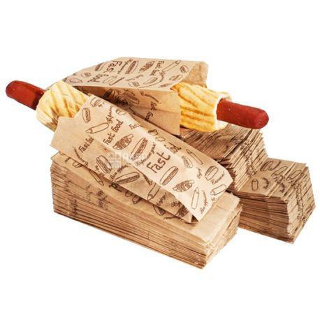 Бумажный пакет, 1000 шт., Для французского хот-дога, м/у