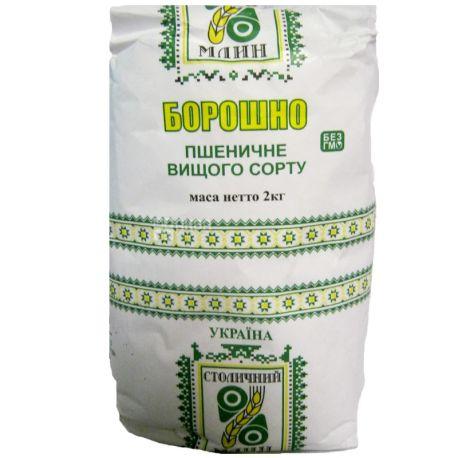 Столичний Млин, Мука пшеничная, высший сорт, 2 кг