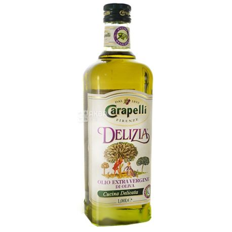 Carapelli, 1 л, Олія оливкова, Delizia, скло