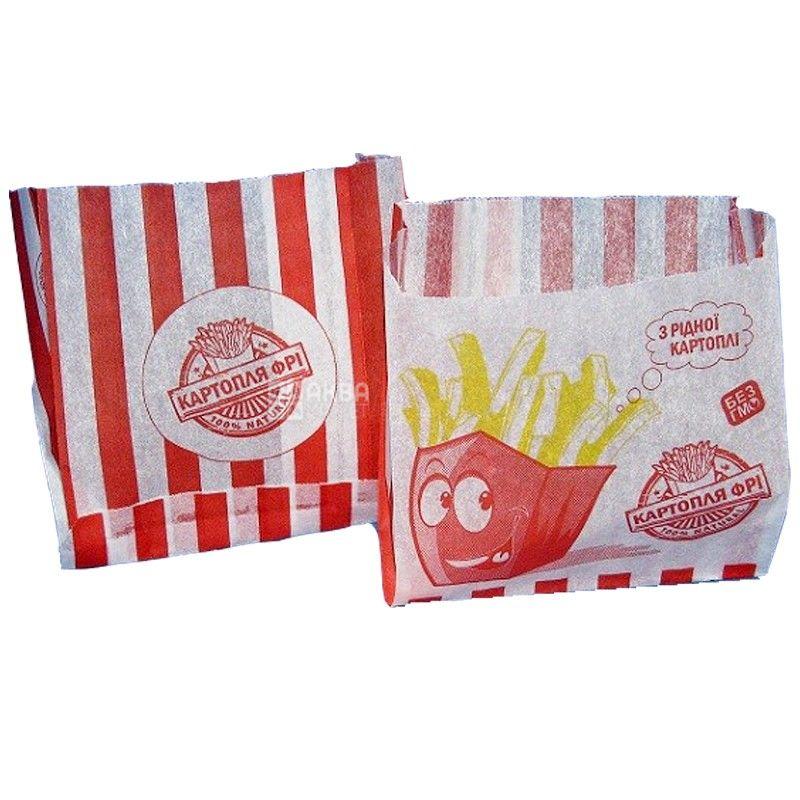Промтус, 1000 шт., бумажный пакет, Для картофеля фри, м/у