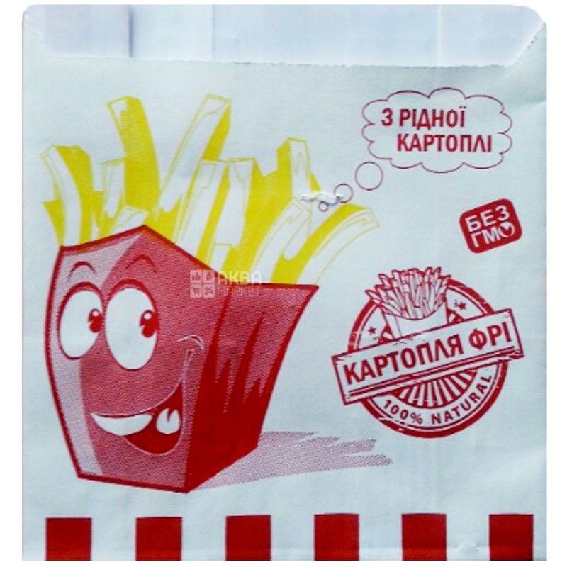Промтус, 1000 шт., паперовий пакет, Для картоплі фрі, м/у