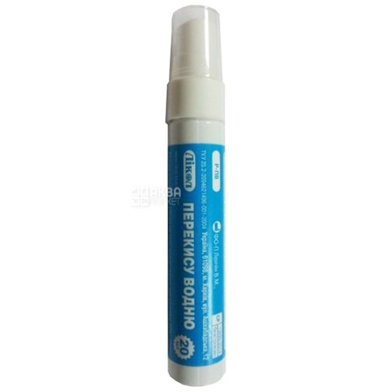 Лікол, 20 мл, перекис водню, Флакон-олівець, 3%, ПЕТ