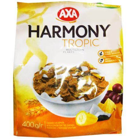 АХА, 400 г, Хлопья, мультизерновые, с тропическими фруктами, Гармония