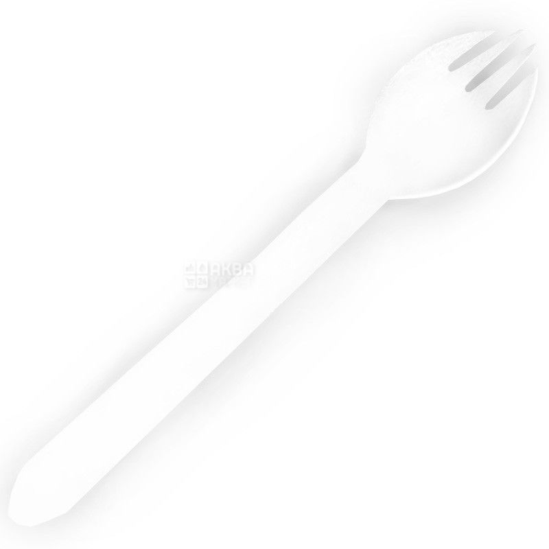Контейнер для салата, 375 мл, Пластиковый, С вилкой, м/у