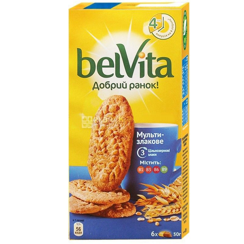Belvita, 300 г, печиво, мультизлакове