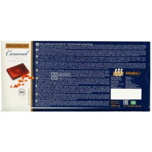 Millenium Favorite, 100 g, milk chocolate, Caramel