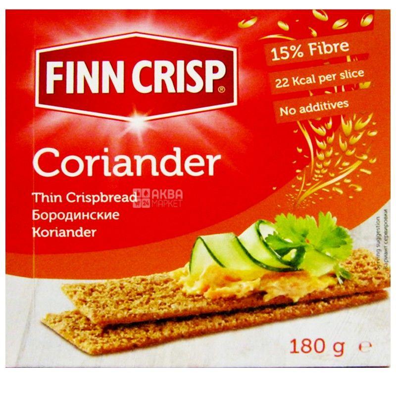 Finn Crisp, 180 г, сухарики, житні, Coriander