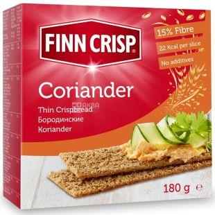 Finn Crisp, 180 г, сухарики, ржаные, Coriander