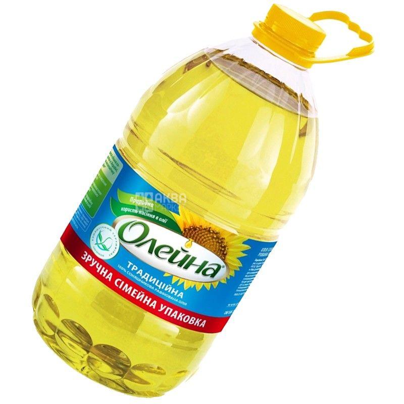 Олейна, 5 л, подсолнечное масло, рафинированное