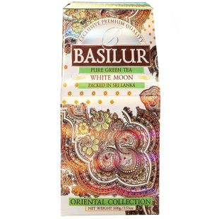 Basilur White Moon, 100 г, Чай Базилур, Белый месяц, зеленый улун