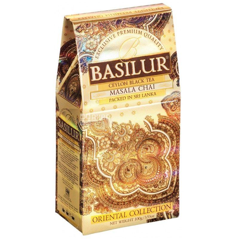 Basilur, 100 г, чай, черный, Восточная коллекция, Масала