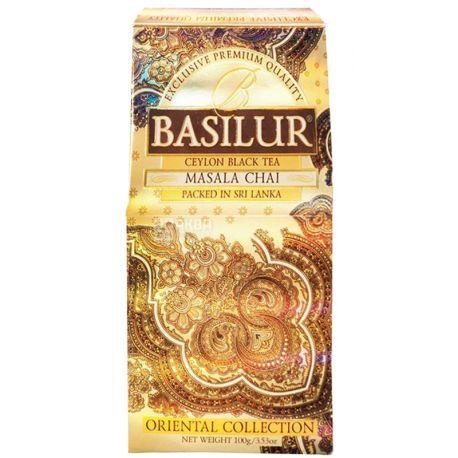 Basilur, Masala, 100 г, Чай Базилур, Масала, черный со специями