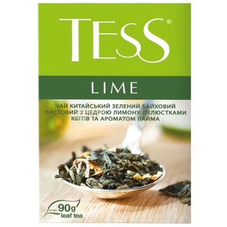 Tess,Lime, 90 г, Чай Тесс, Лайм, зеленый с ароматом лайма