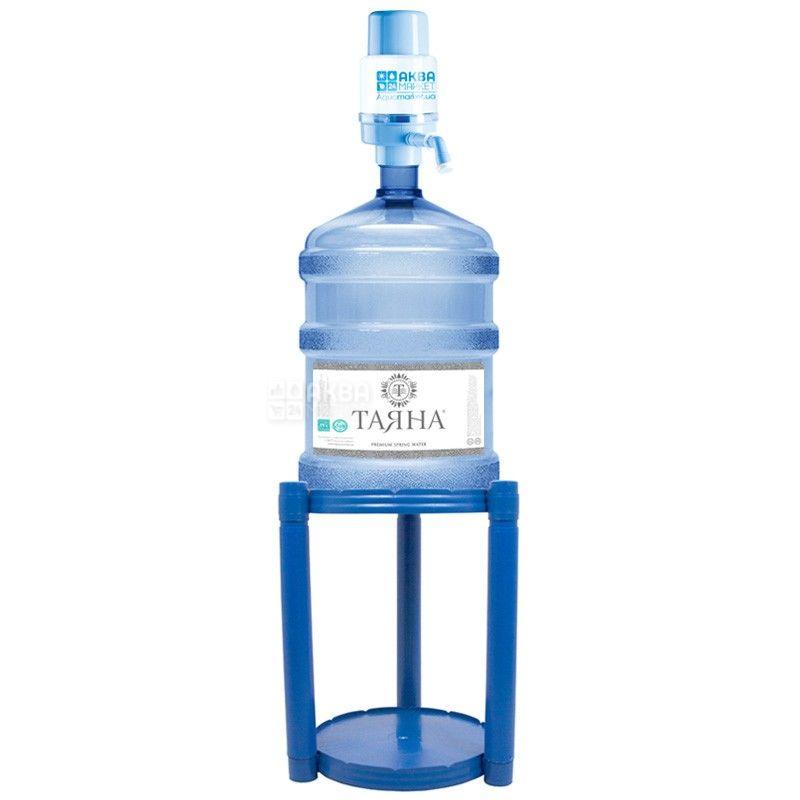Подставка под бутыль, пластиковая синяя