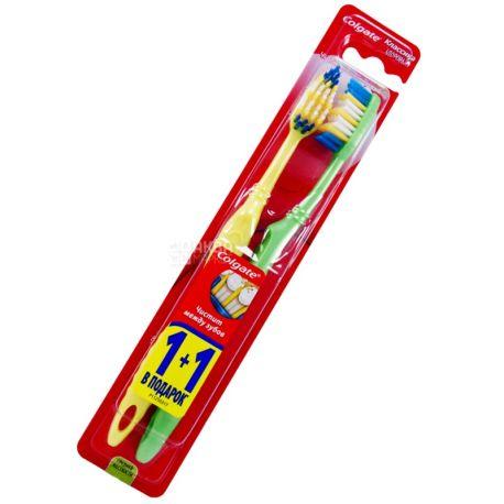 Colgate,  1+1 шт., зубна щітка, класика здоров`я