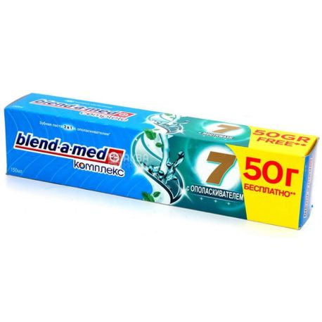Blend-a-med, 150 ml 2 in 1, rinsed toothpaste, Complex 7