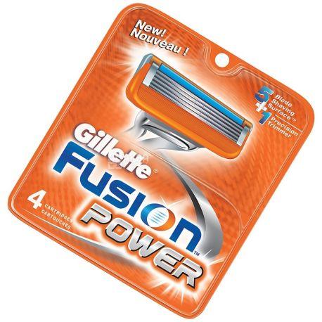 Gillette, 4 шт., змінні касети, Fusion Power