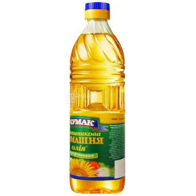 Chumak, 1 l, home-made unrefined sunflower oil