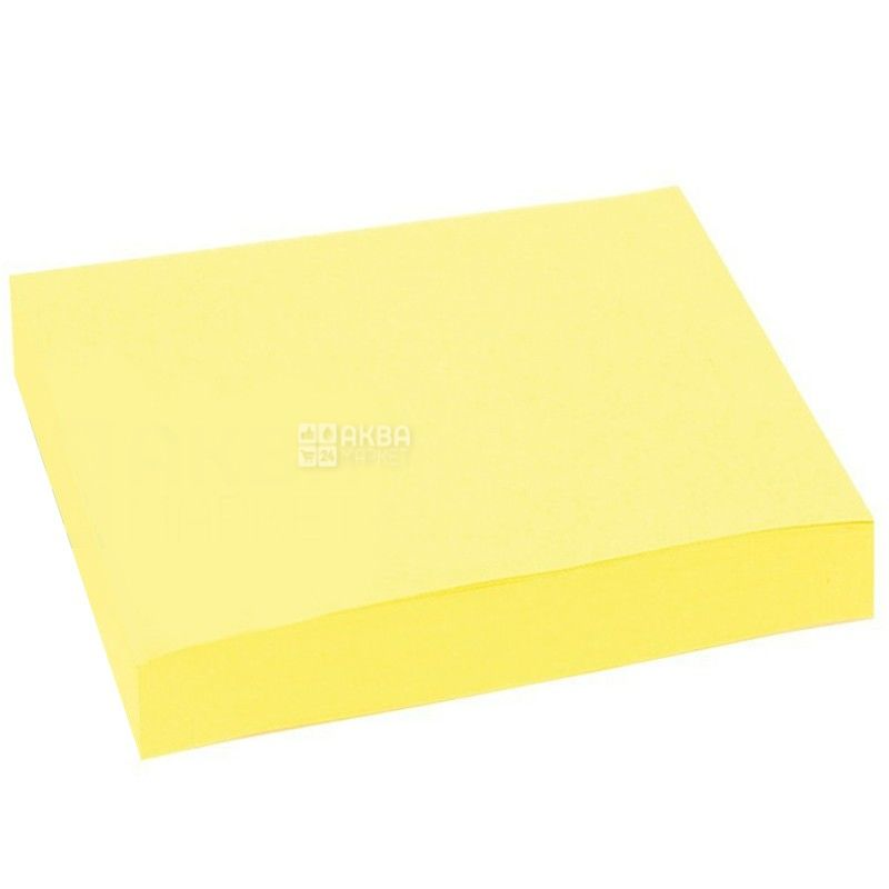 Skiper, 100 л., бумага, С липким слоем, Желтая, м/у