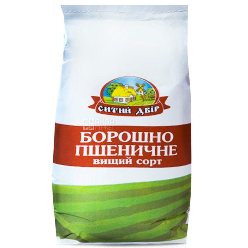 Ситий Двір, Борошно пшеничне, вищий сорт, 2 кг
