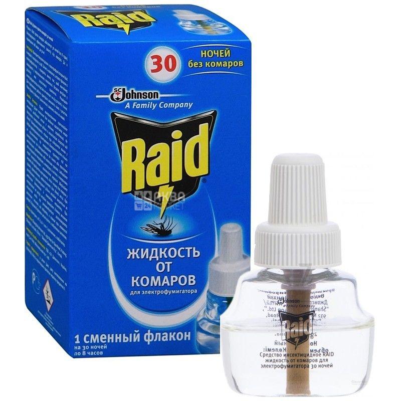 Raid, рідина для фумігатора, 30 ночей
