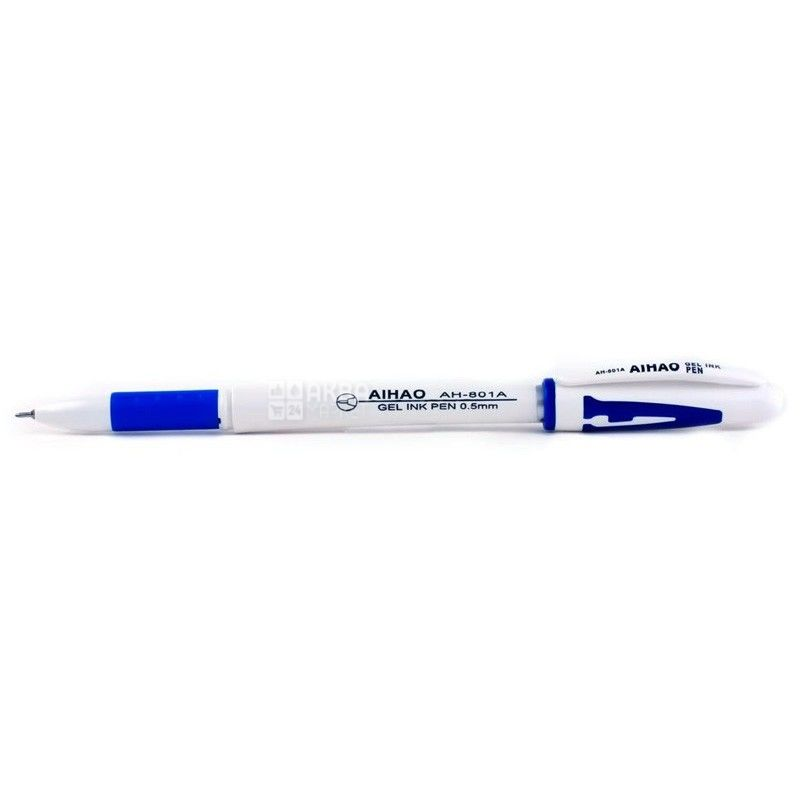 AIHAO, 12 шт., 0,5 мм, ручка гелева, Синя