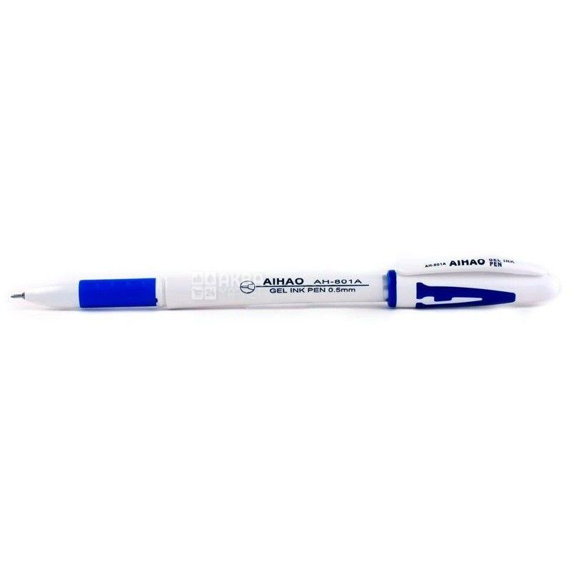 AIHAO, 12 шт., 0,5 мм, ручка гелевая, Синяя, м/у