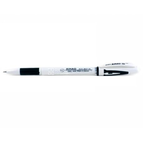 AIHAO, 12 шт., 0,5 мм, ручка гелевая, Черная, м/у