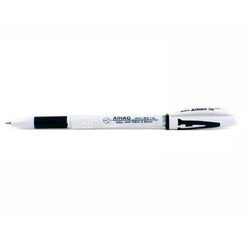 AIHAO, 12 pcs., 0.5 mm, gel pen, Black, m / s