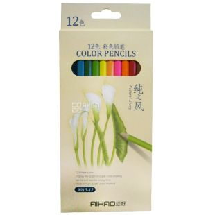 AIHAO, 12 pcs., Colored pencils, Assorted, Set, m / y