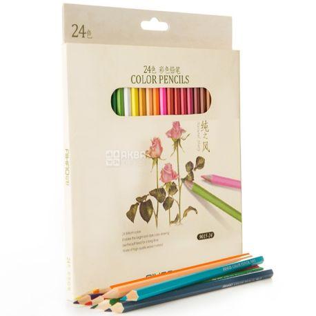 AIHAO, Набор цветных карандашей, Ассорти, 24 шт.