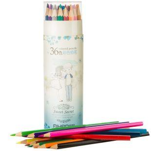AIHAO, 36 шт., кольорові олівці, Асорті, Набір, м/у