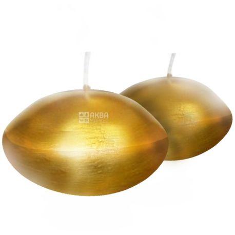 Natali Candles, 5x4,5x4,5 см, свічка, Золотий диск, м/у