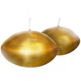 Natali Candles, 5x4,5x4,5 см, cвеча, Золотой диск, м/у