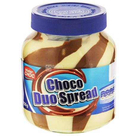 Mister Choc, 750 г, шоколадная паста, Choco Duo, ПЭТ
