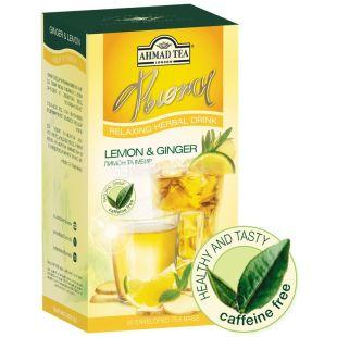 Ahmad, 20 шт., чай трав'яний, Лимон та імбир
