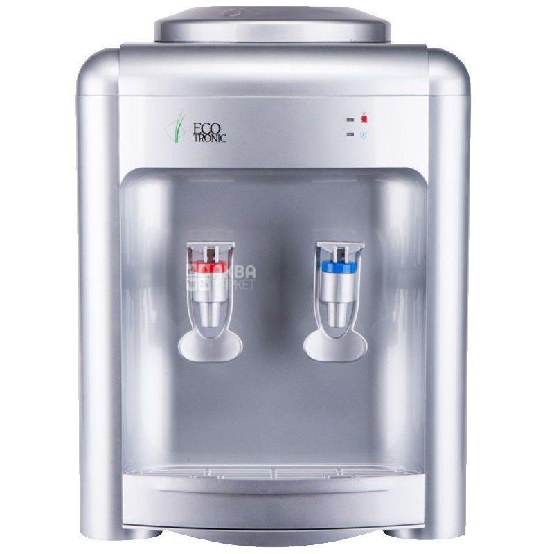 Ecotronic H2-TE Silver, Кулер для води з електронним охолодженням, настільний
