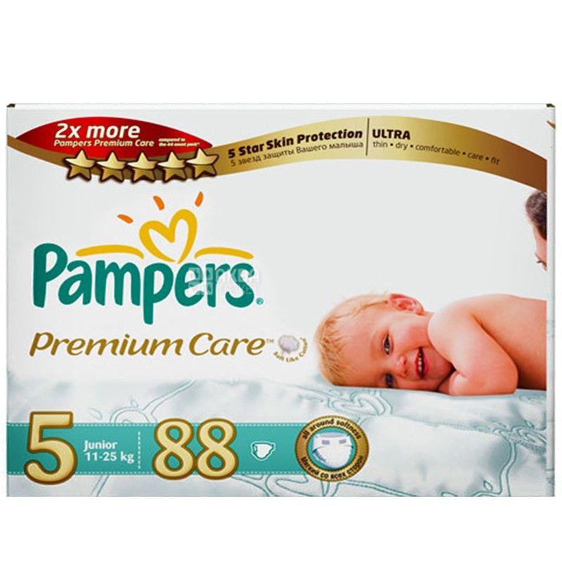 Pampers 5 / 88 шт. Premium Care 11-25 кг  Mega Box