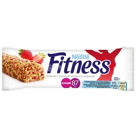 Fitness, 23,5 г, батончик, з цільними злаками і полуницею