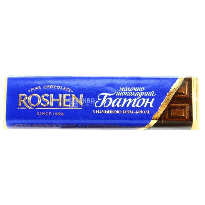 Roshen, 43 г, шоколадний батончик, крем-брюле