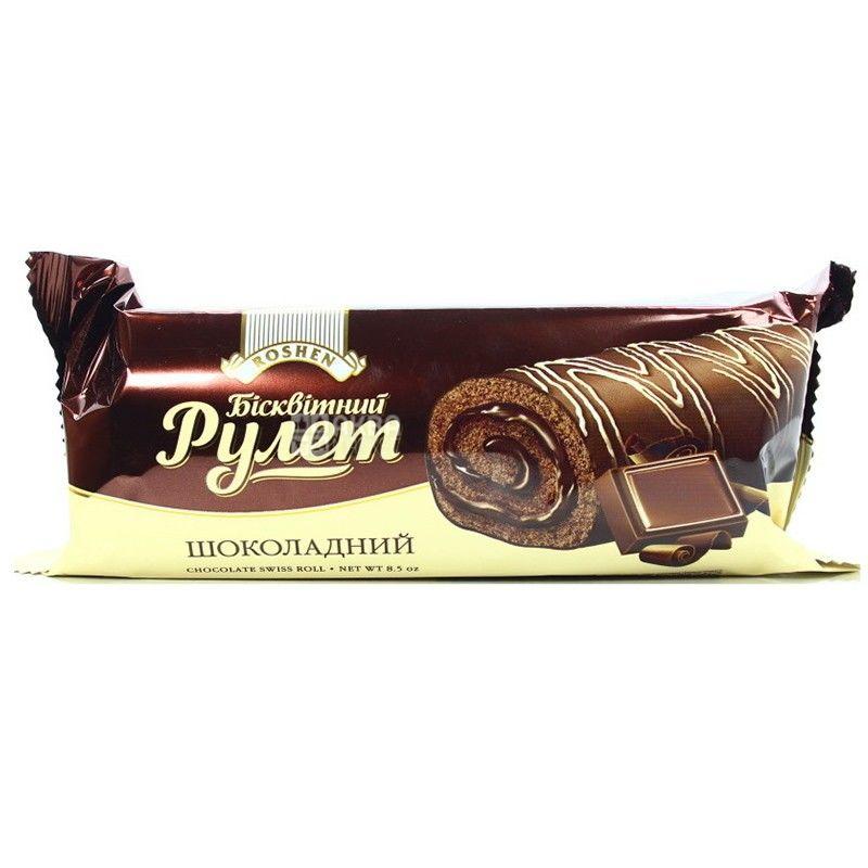 Roshen, 240 г, рулет, Шоколадный