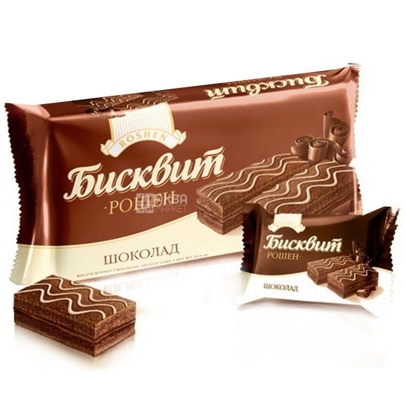 Roshen, 300 г, бисквит, Шоколад