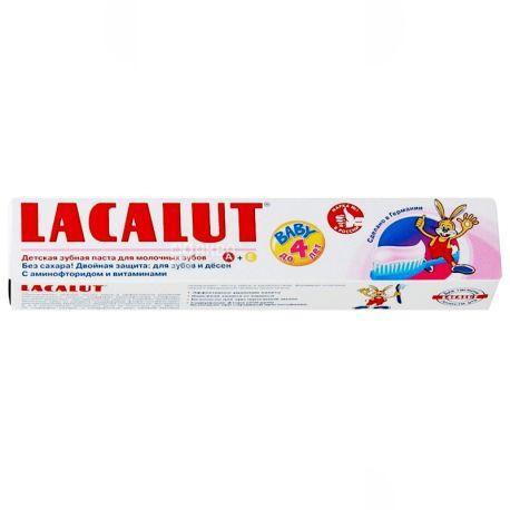 Lacalut, 50 мл, зубная паста, до 4 лет, Baby