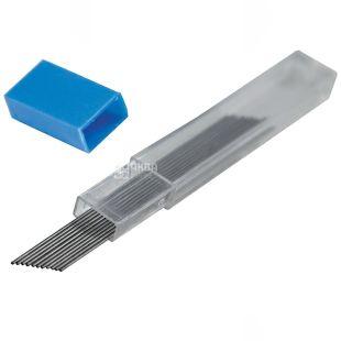Buromax, 0,5 мм, стержень, Для механического карандаша, Черный, м/у