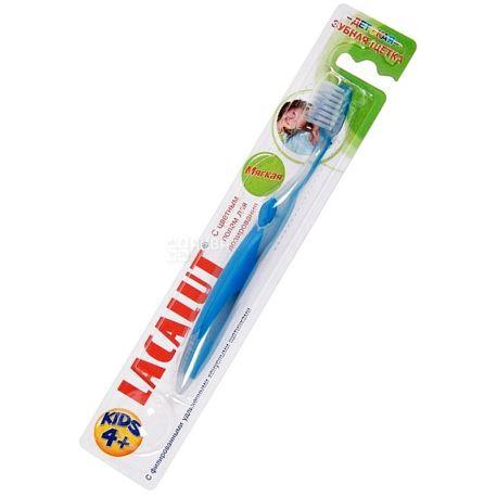 Lacalut, Kids, 1 шт., Детская зубная щетка, мягкая, от 4 лет