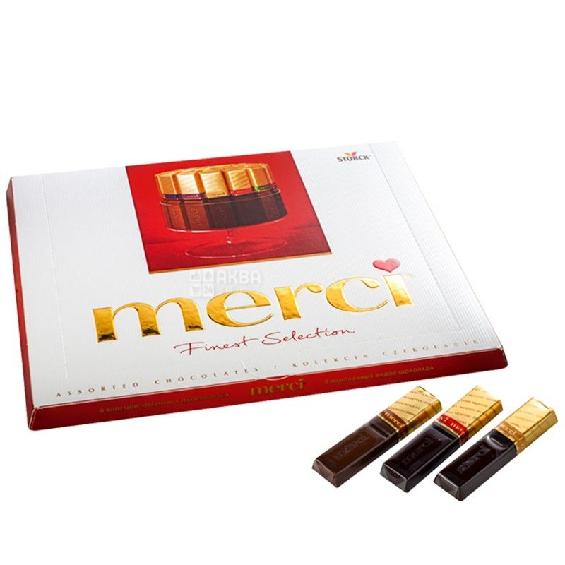 Merci, 250 г, конфеты, молочный и черный шоколад, Assorted