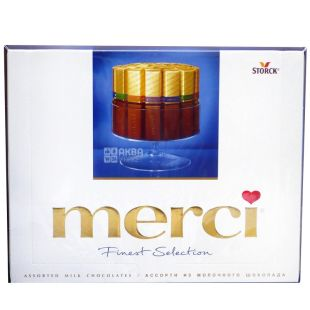 Merci, 250 г, конфеты, молочный шоколад, Assorted