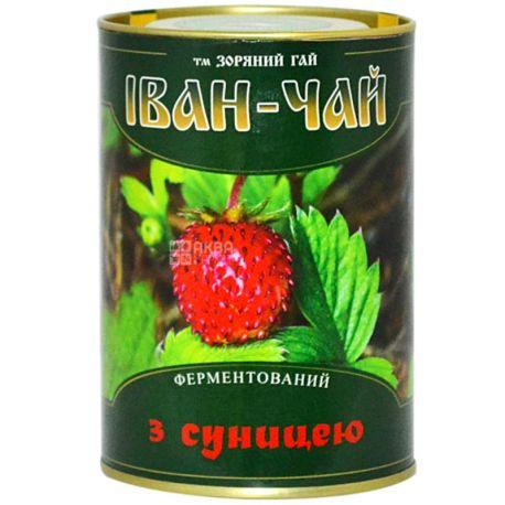Зоряний гай, Иван-чай с земляникой, 100 г, Чай травяной, ферментированный, ж/б