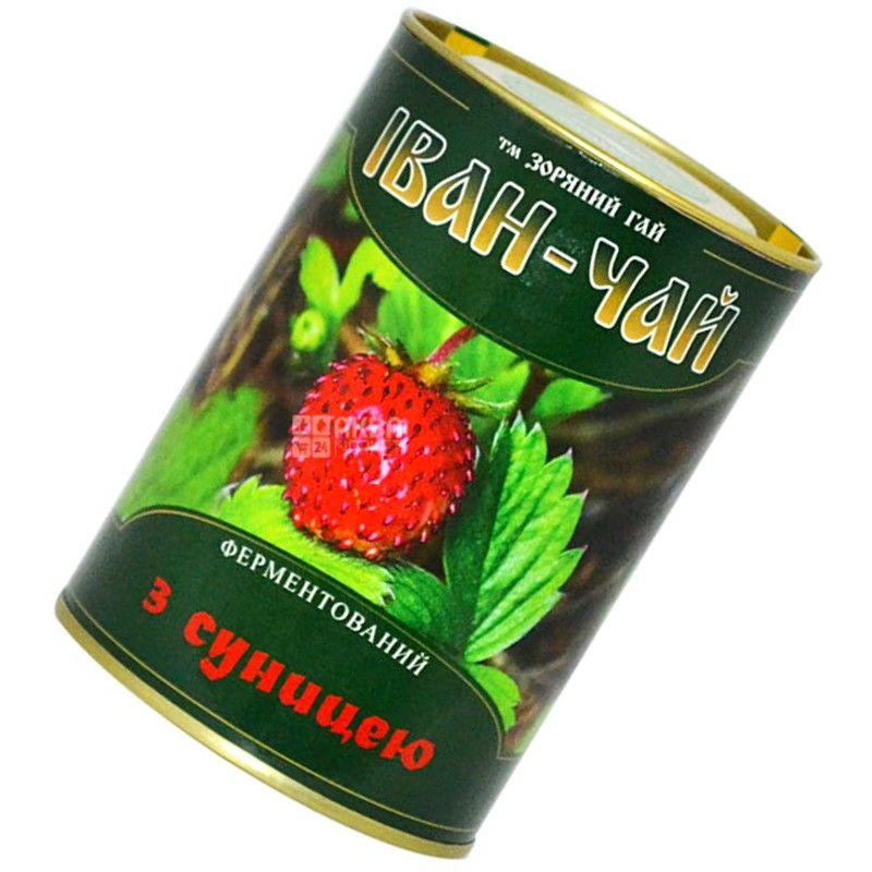 Зоряний гай, Іван-чай з суницею, 100 г, Чай трав'яний, ферментований, ж/б