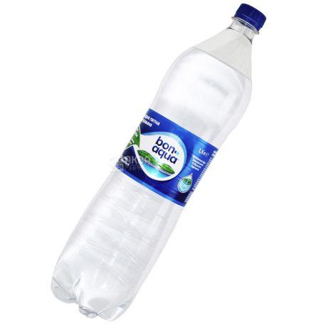 BonAqua, 1,5 л, БонАква, Вода мінеральна сильногазована, ПЕТ